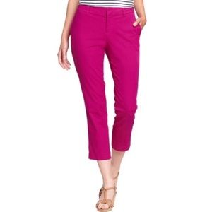 Bright Pink Cropped Capri Pants Old Navy